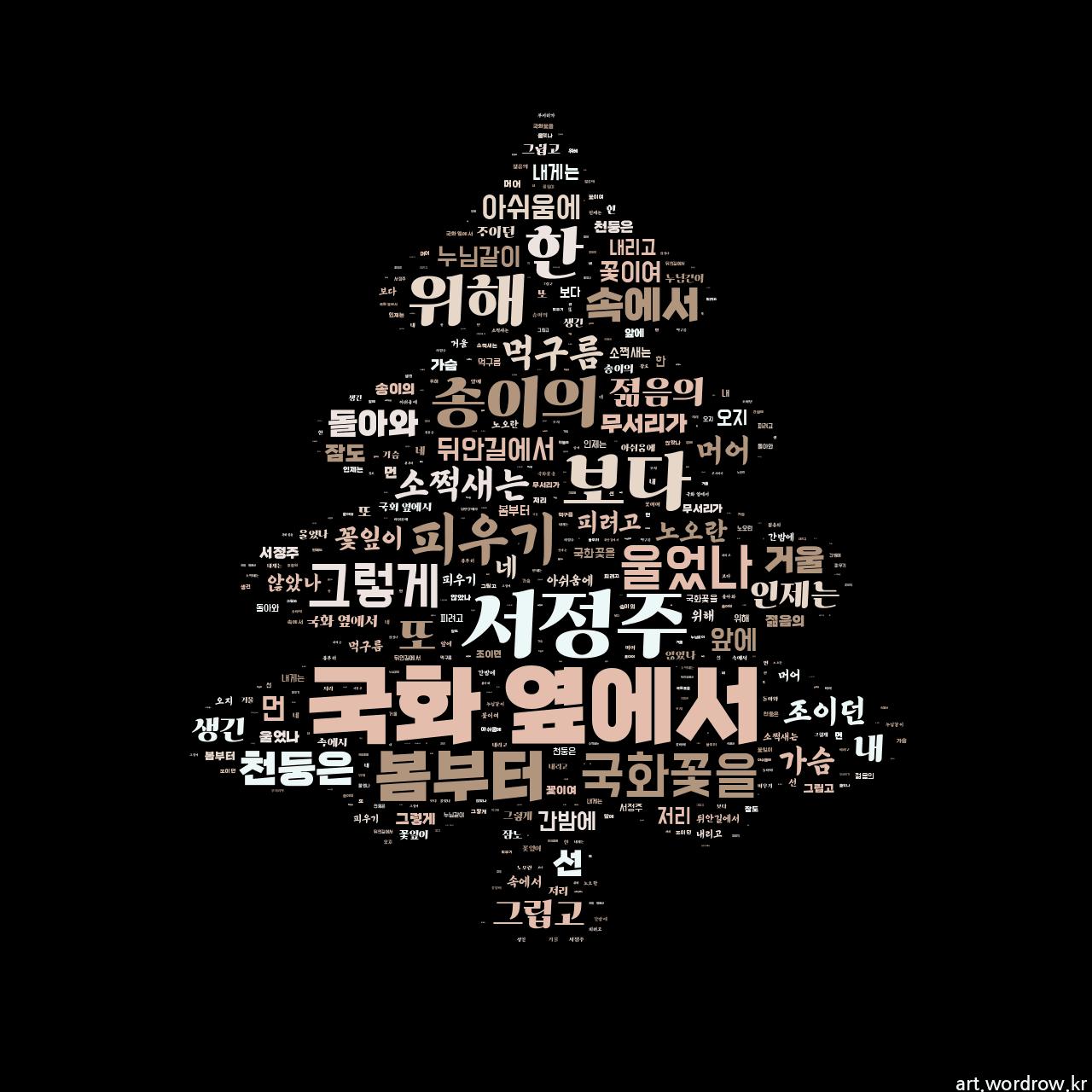 워드 아트: 국화 옆에서 [서정주]-27